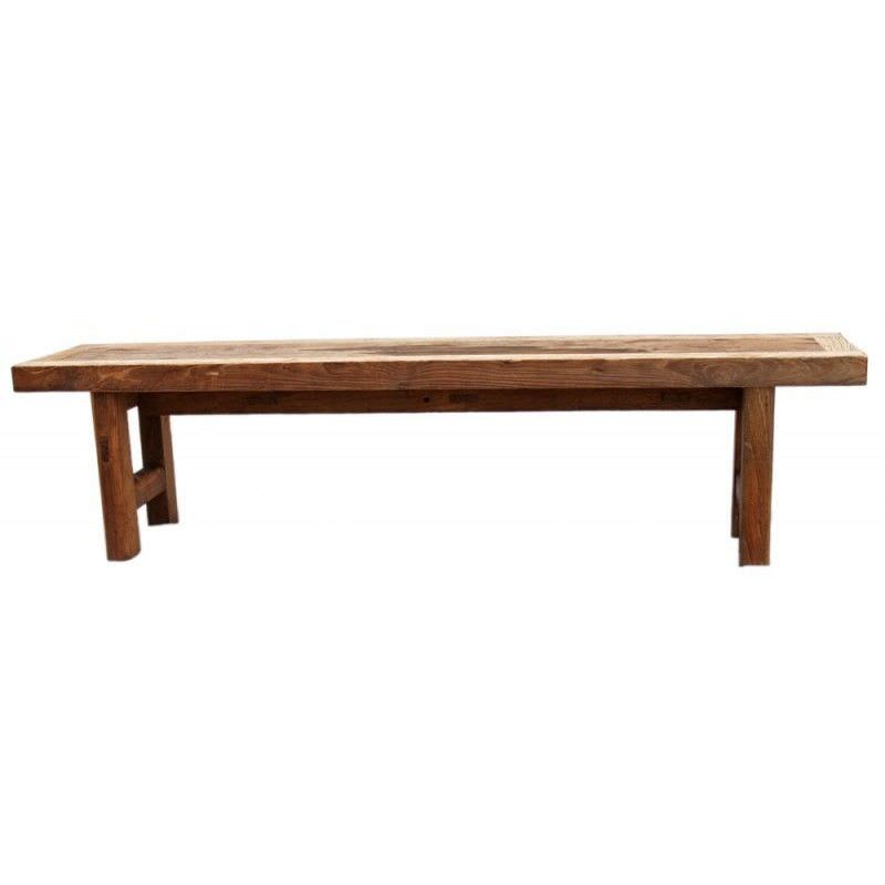 Raymon Recycled Timber 250cm Dining Bench - Natural