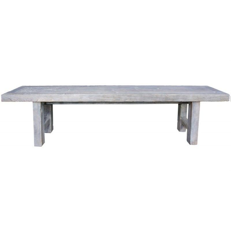 Raymon Recycled Timber 180cm Bench - White Wash