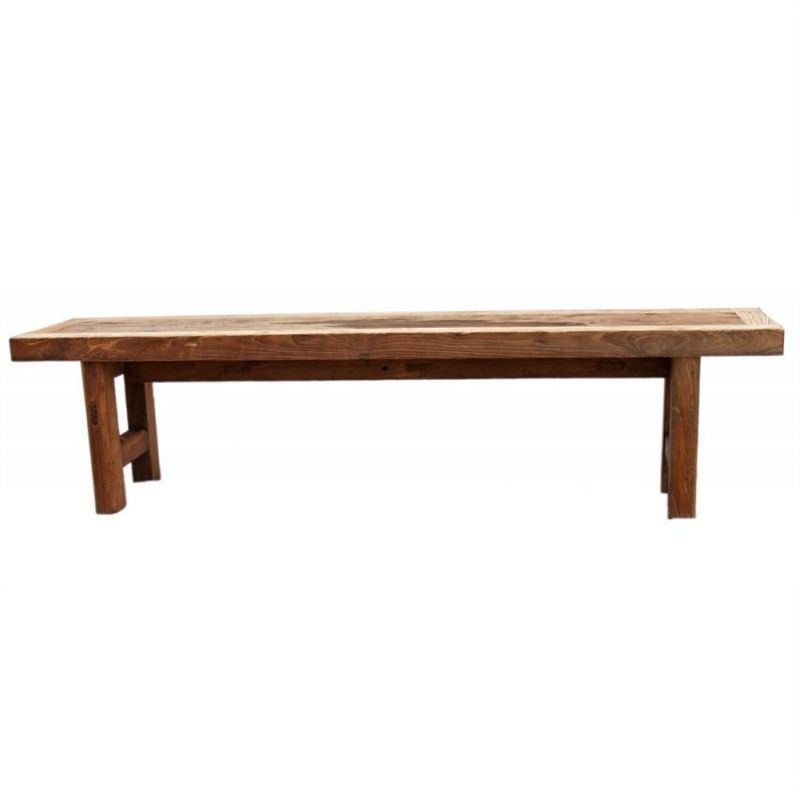 Raymon Recycled Timber 180cm Dining Bench - Natural