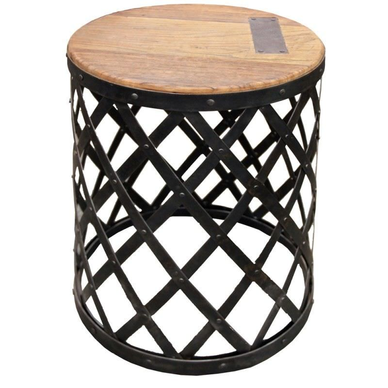 Creek 45cm Iron Round Side Table