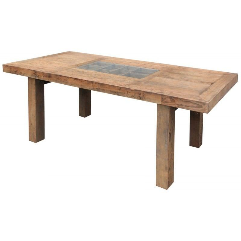 Compartment Design Recycled Timber 270cm Dining Table - Natural