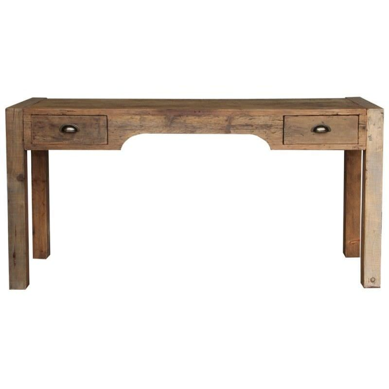 Carrington Recycled Timber Writing Desk in Natural - 150cm