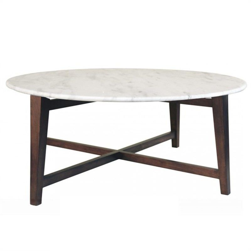 Osmoy 85cm Round Coffee Table with Marble Top