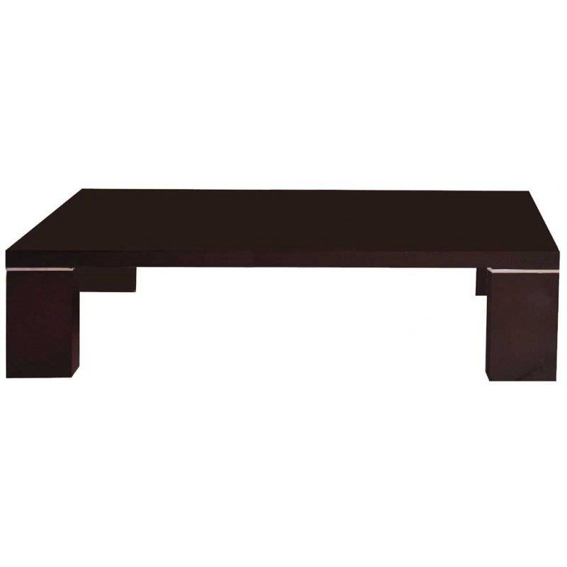 Tatum Wooden 150cm Coffee Table - Dark Brown