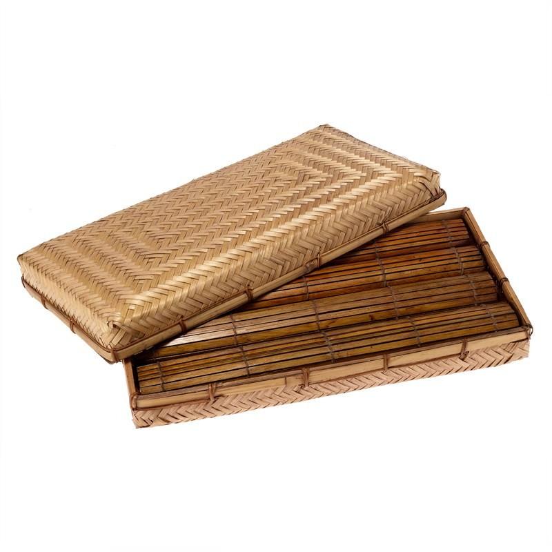 Thin Bamboo Mat -Brown 33x45 (set of 4)