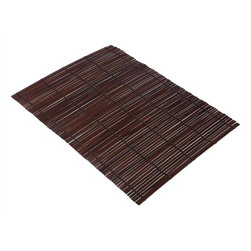 Thin Flat Bamboo Mat -Chocolate (set of 4)