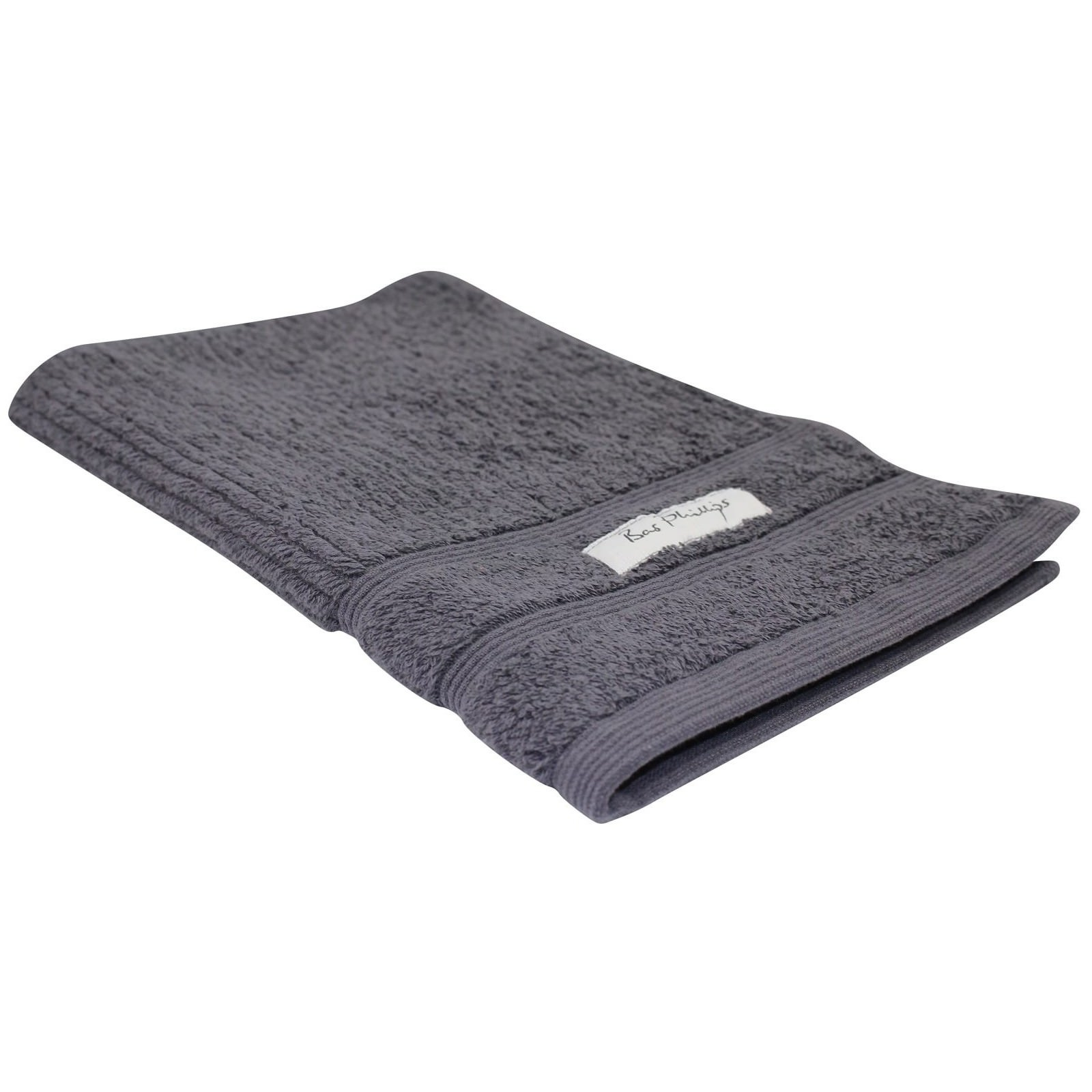 Bas Phillips Cairo Egyptian Cotton Hand Towel, Graphite