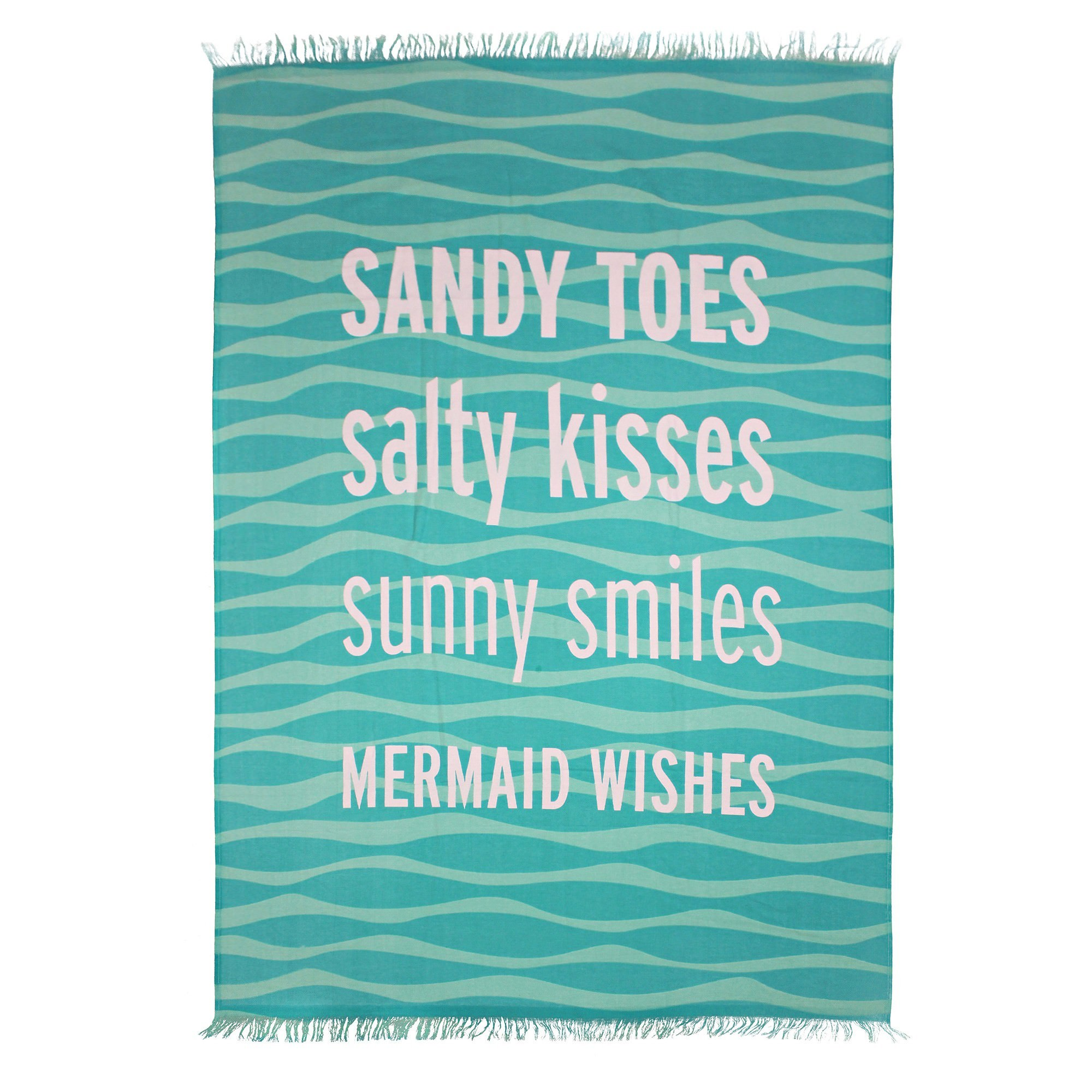 Odyssey Living Cotton Mega Beach Towel, Sandy Toes, 180cm