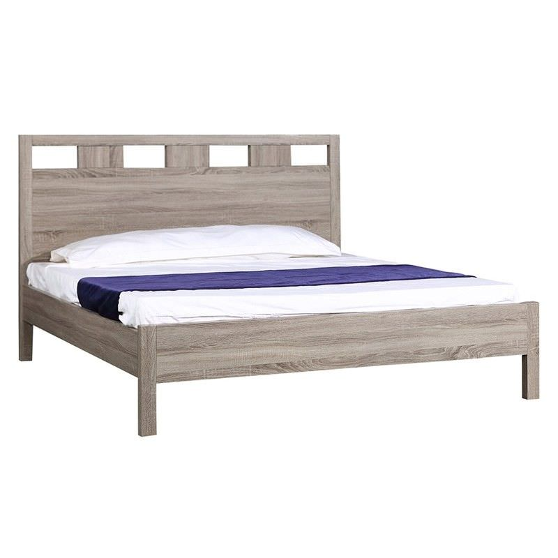 Emilio Wooden Bed, King