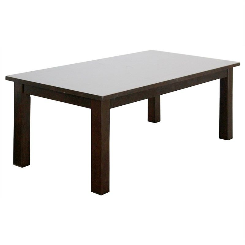 Adeline Solid Timber 110cm Coffee Table - Walnut
