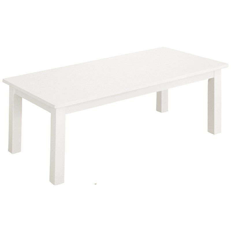 Adeline Solid Timber 110cm Coffee Table - White