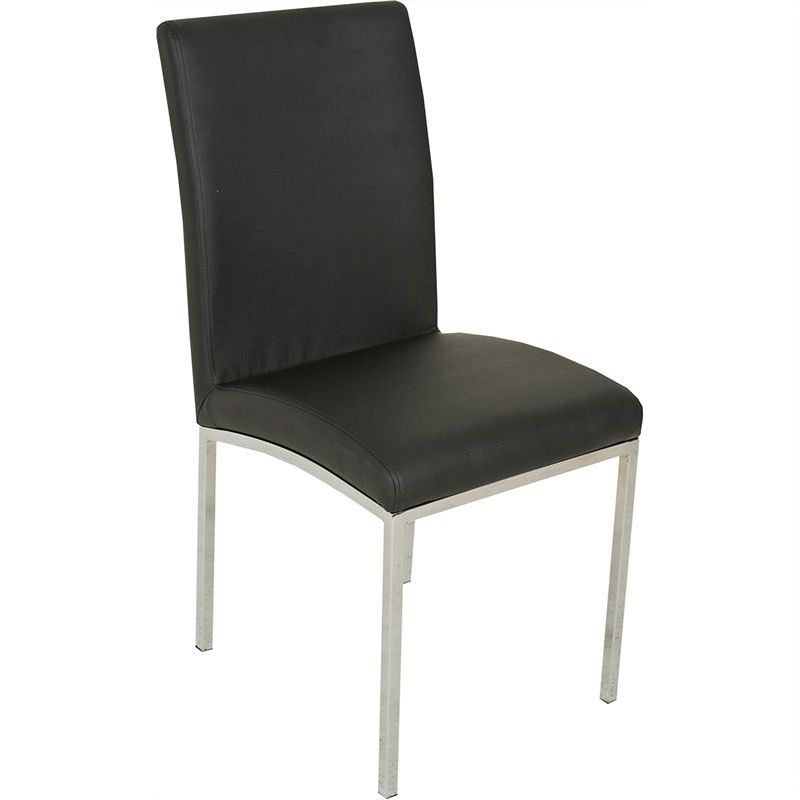 Bali Faux leather Upholstered Dining Chair - Black
