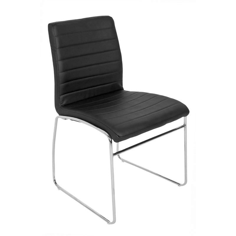 Como PU Leather Dining Chair - Black