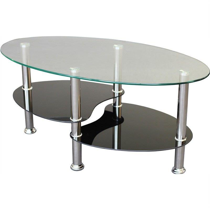 Persia Black Glass 90cm Coffee Table