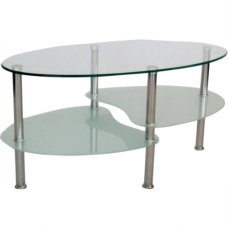 Persia Sandblast Glass 90cm Coffee Table