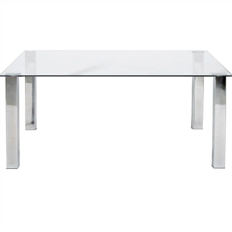 Kimbrell 160cm Glass Top Dining Table - Clear