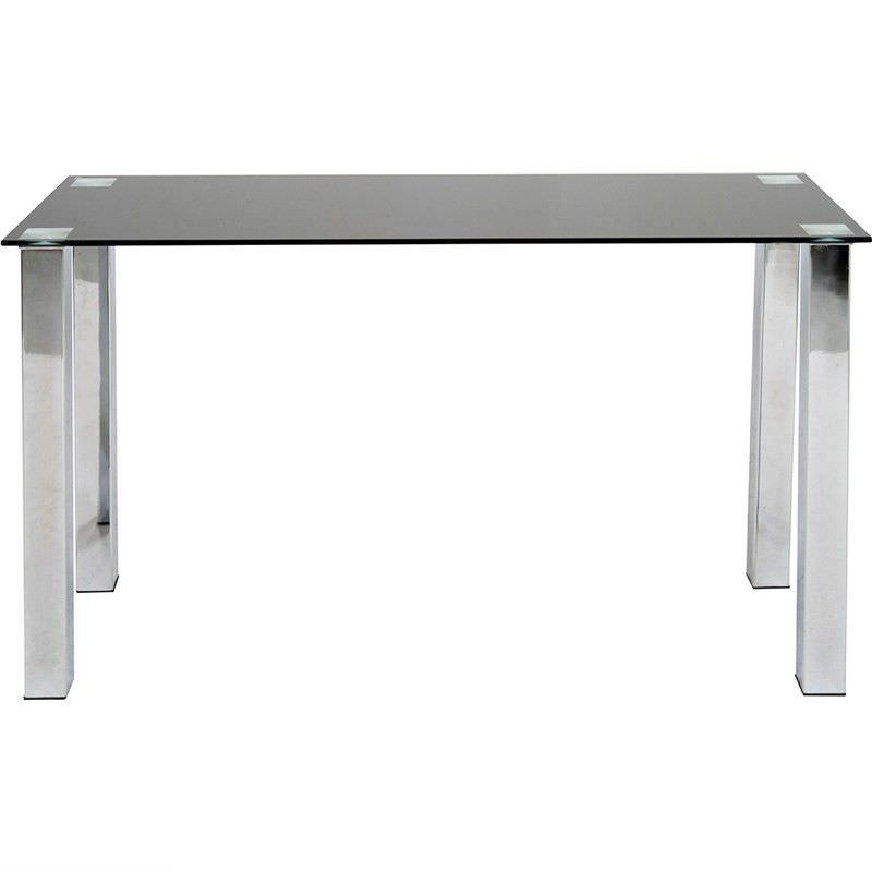 Kimbrell 120cm Glass Top Console Table - Black