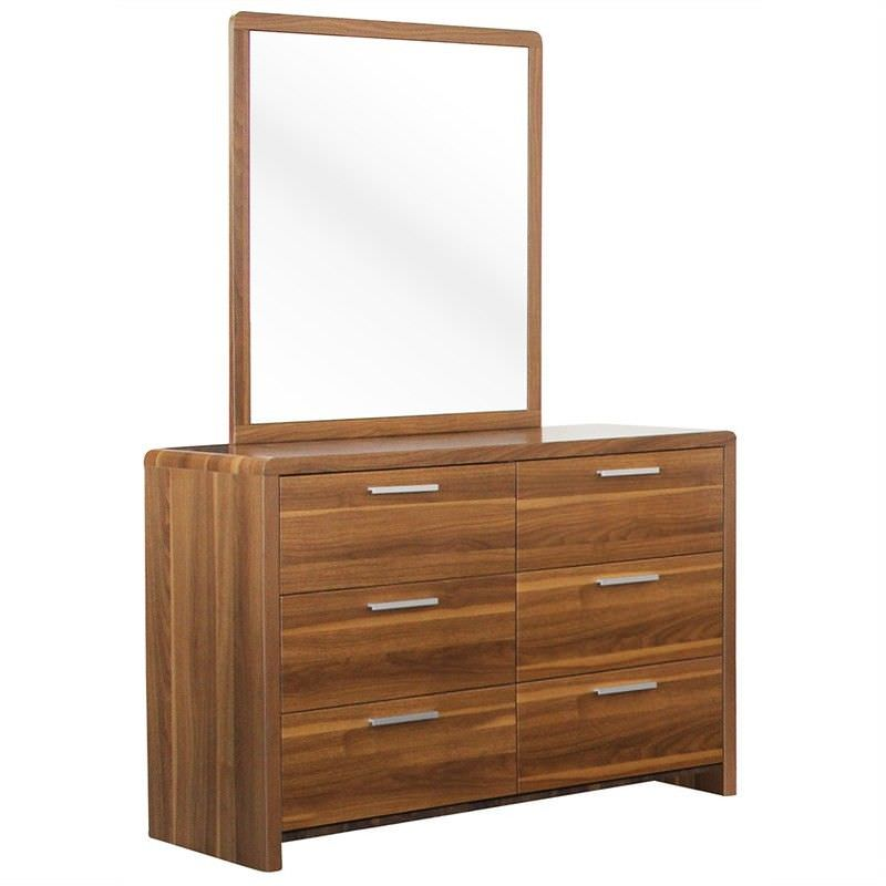 Lorenzo Wooden Dressing Table with Mirror - Blackwood