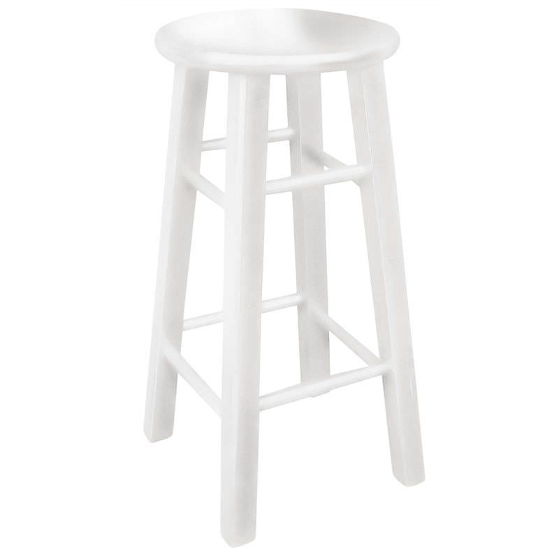 Mikko Solid Painted Timber Bar Stool, White