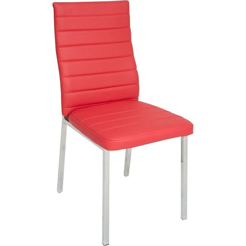 Nakia Faux Leather Upholstered Dining Chair - Red