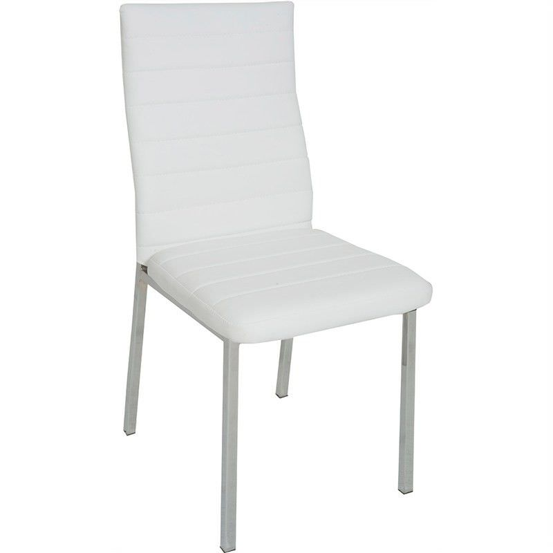 Nakia Faux Leather Upholstered Dining Chair - White
