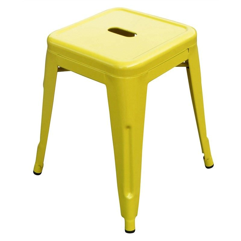 Toliver Replica Tolix 45cm Metal Stool - Yellow