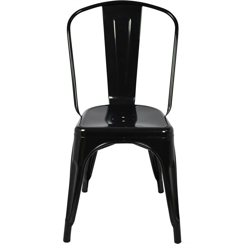 Toliver Replica Tolix Metal Chair -Black