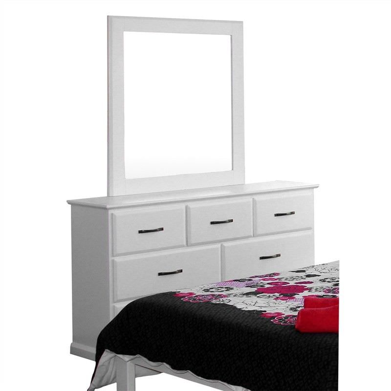 Jocelynn Solid Pine Timber 7 Drawer Dresser with Mirror