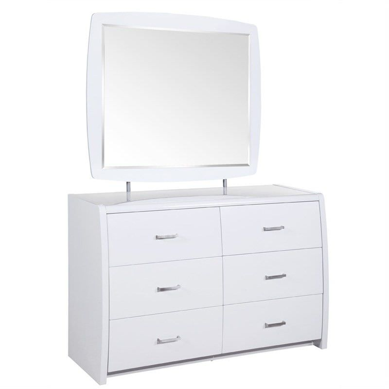 Whitney Wooden 6 Drawer Dressing Table with Mirror