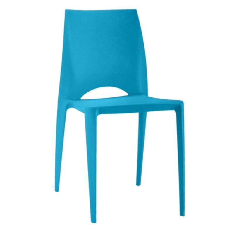 Velasco Commercial Grade Outdoor Dinig Chair, Blue