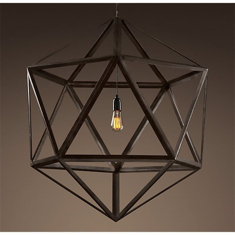 Alfons Steel Polyhedron Pendent Light