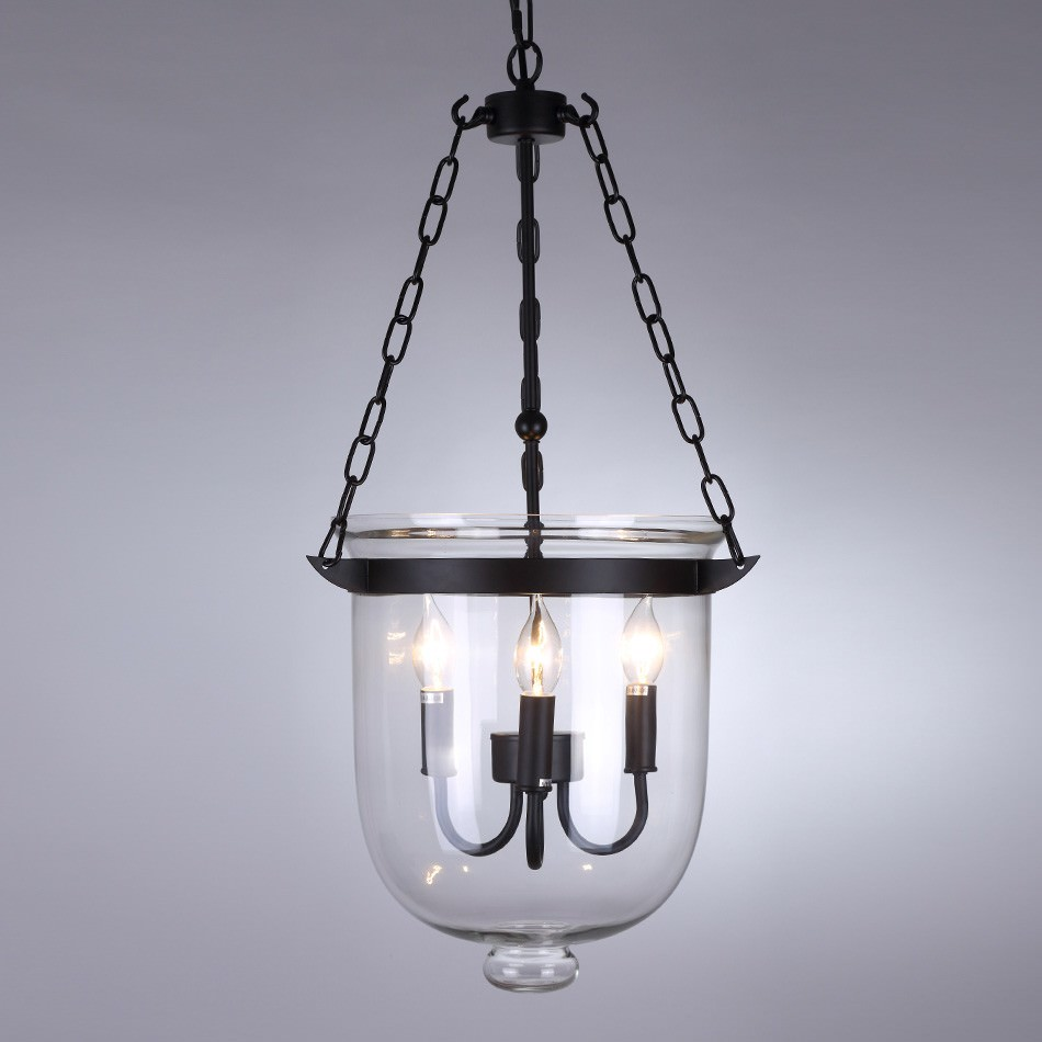 Beckett Metal & Glass Lantern Chandelier