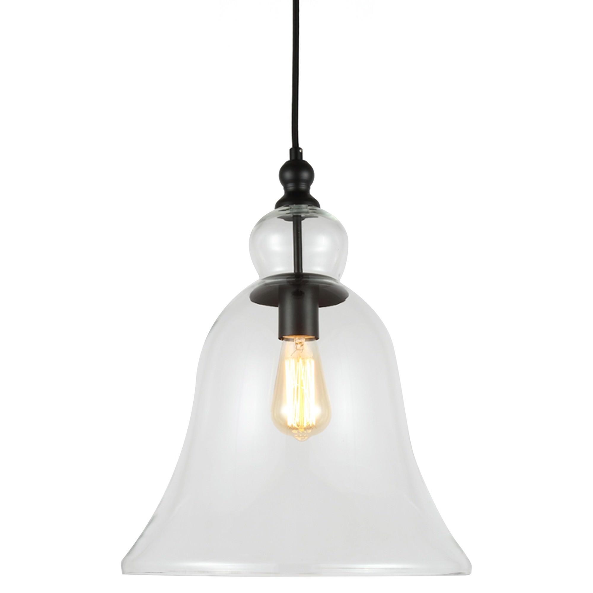 Berta Glass Bell Shade Pendant Light, Large