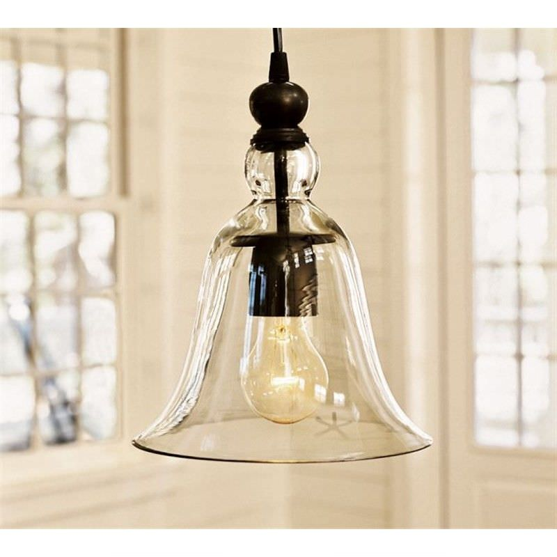 Berta Glass Bell Shade Pendant Light