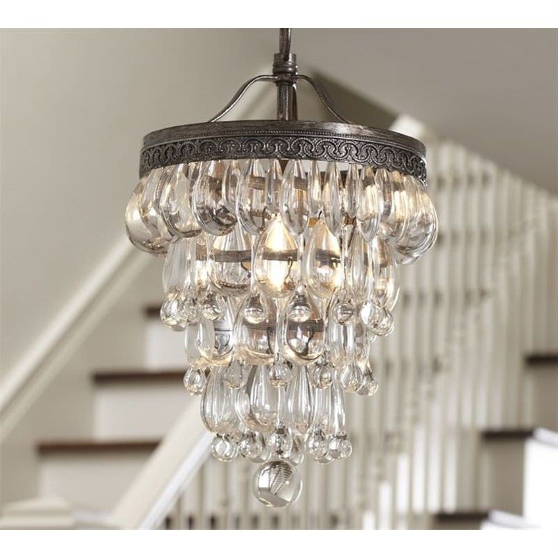Clarissa Glass Drop Pendant Light - Medium