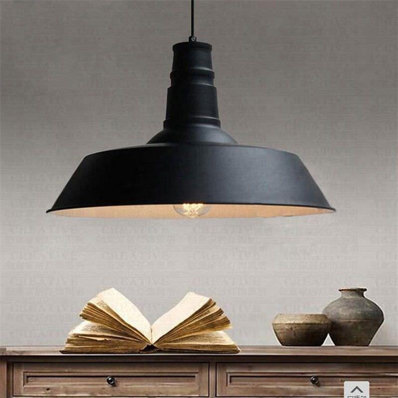 Daniel Industrial Iron Pendant Light - Large