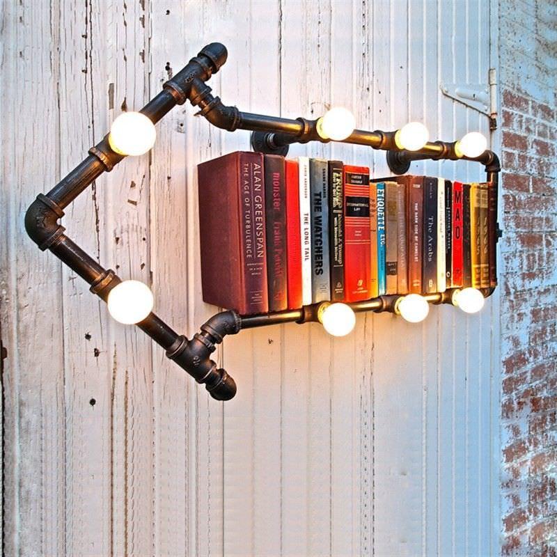 Dirk Iron Pipe Arrow Wall Light / Wall Shelf