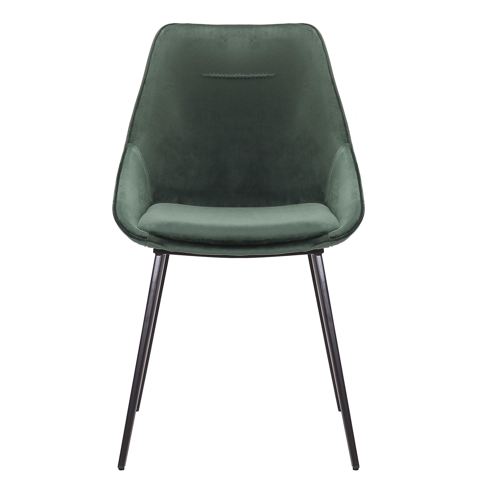 Bellagio Commercial Grade Velvet Fabric Dining Chair, Emerald