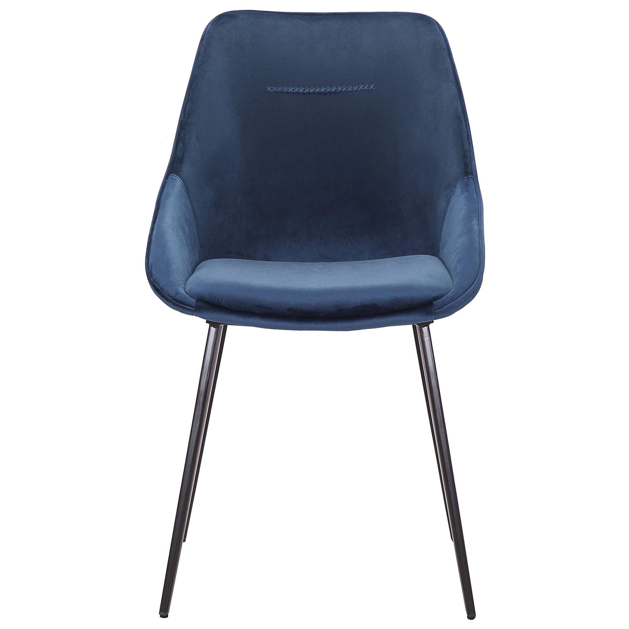Bellagio Commercial Grade Velvet Fabric Dining Chair, Navy