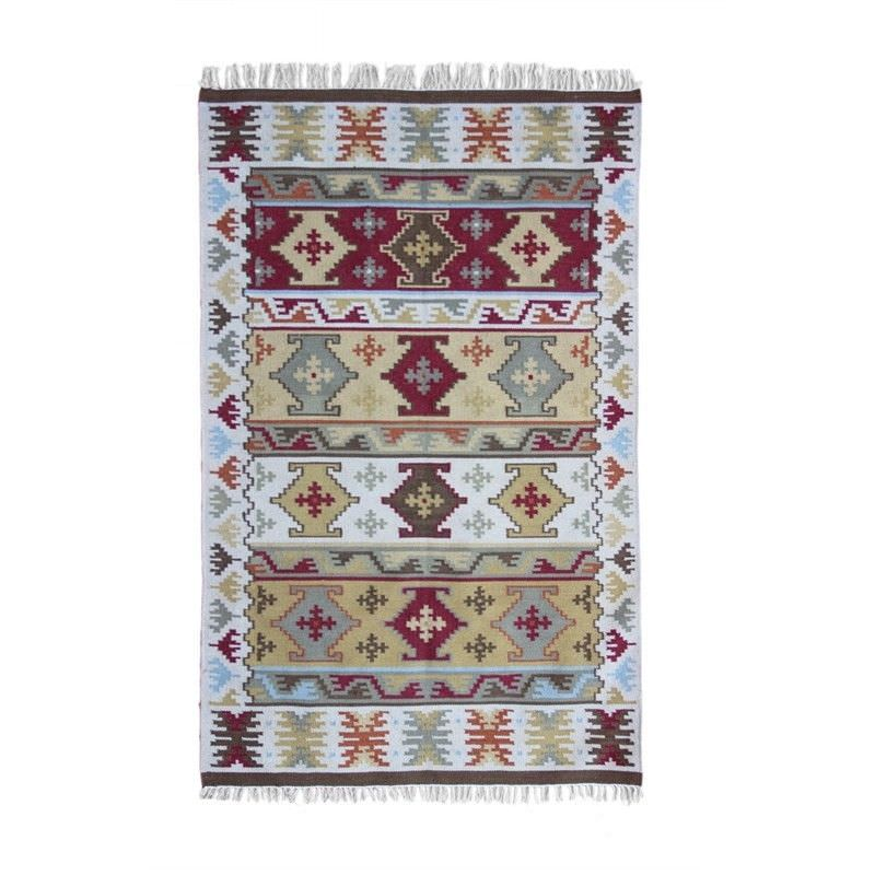 Benaras Kilim Wool Rug - 90x150cm