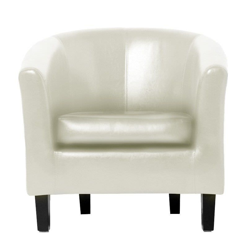 Montana Tub Chair Vinyl in Ivory