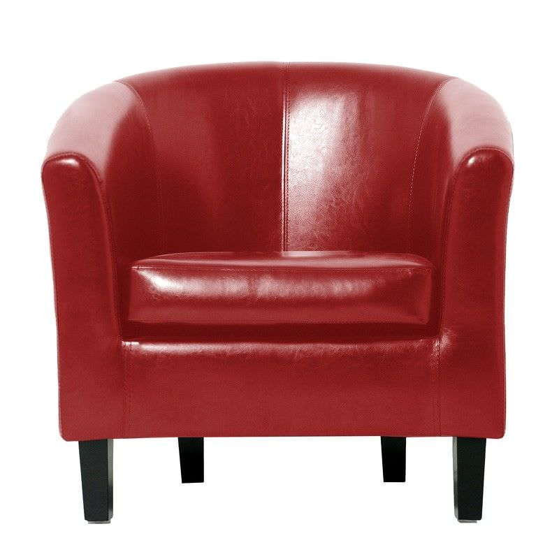 Montana Tub Chair Vinyl in Red