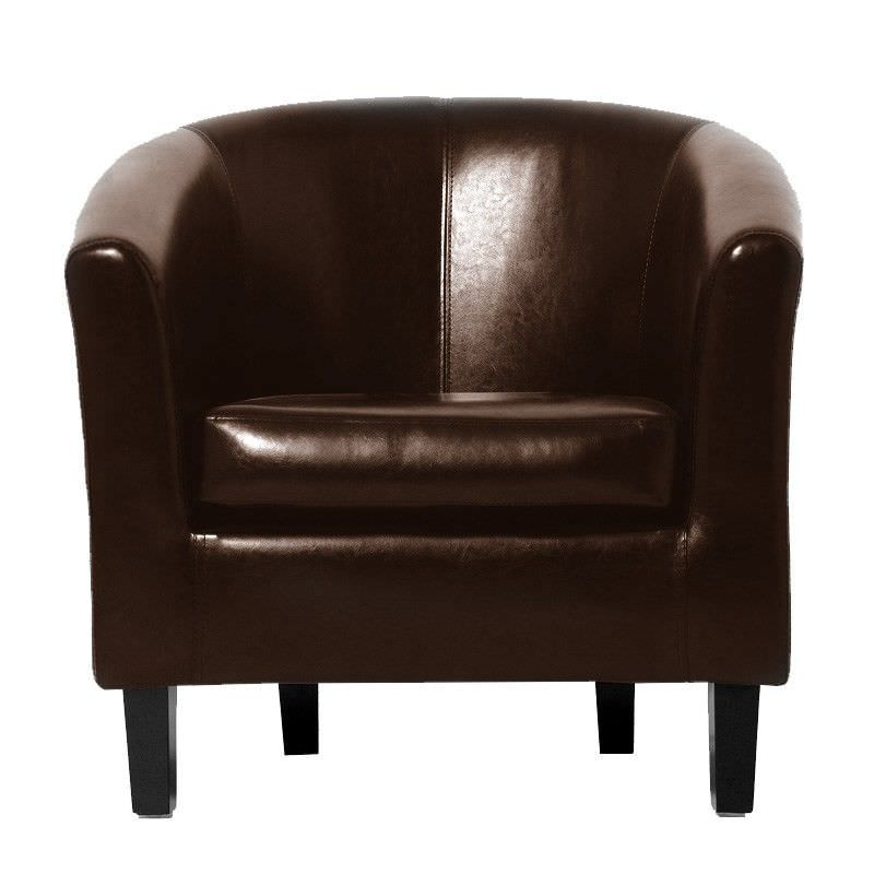 Montana Tub Chair Vinyl in Brown