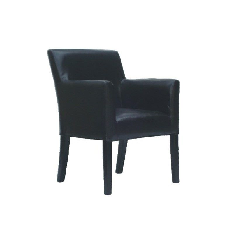 Boston PU Leather Armchair - Black