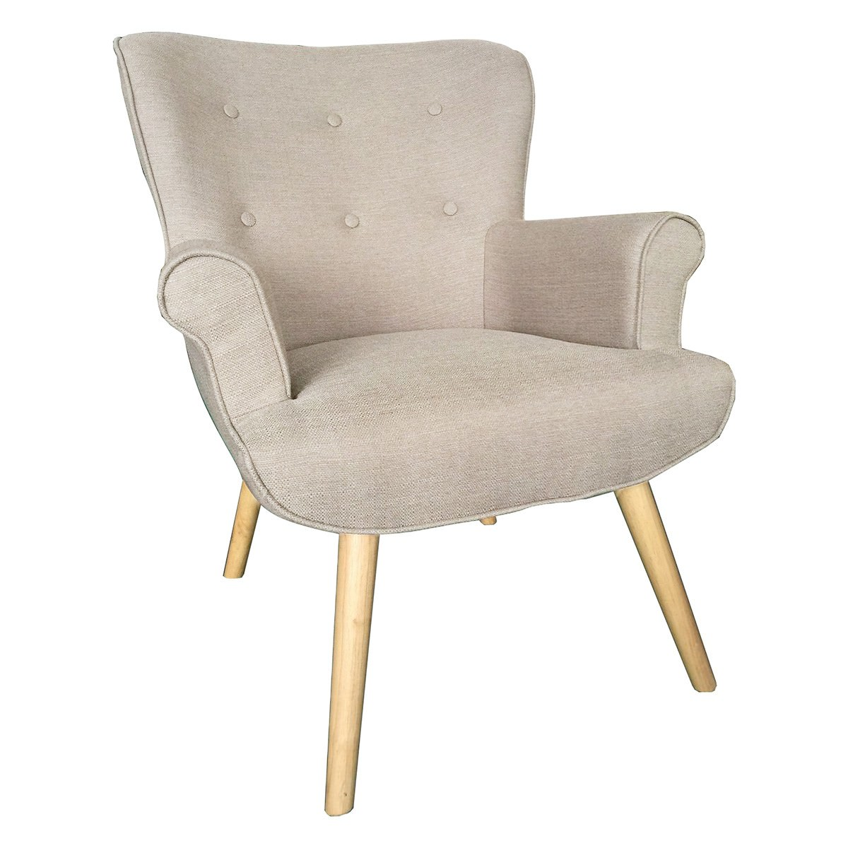 Daley Fabric Armchair, Beige