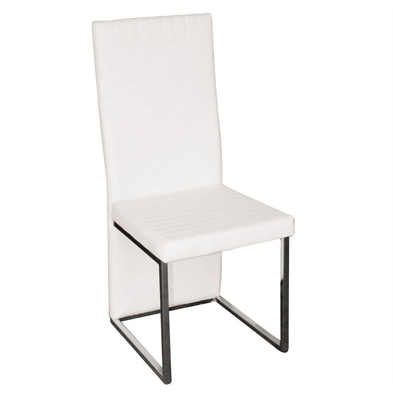 Randcher PU Upholstered Dining Chair - White