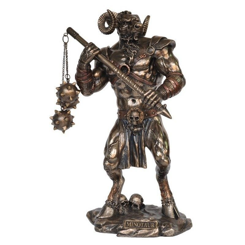 Cast Bronze Greek Mythology Figurine, Minotaur