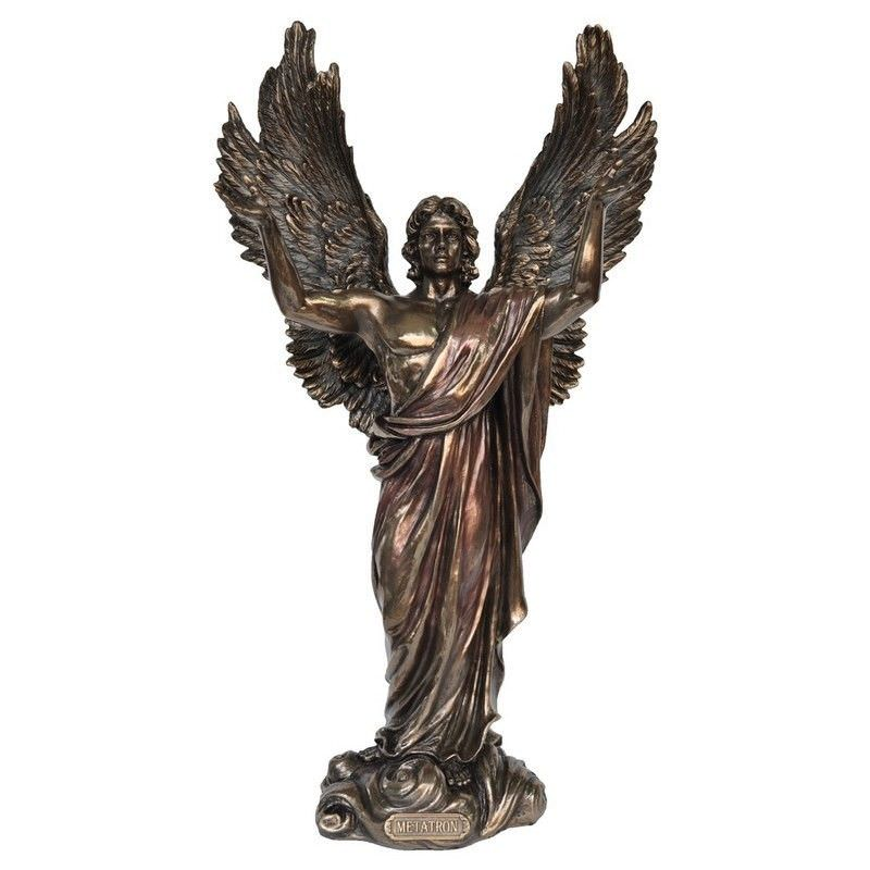 Cast Bronze Angel Figurine, Metatron