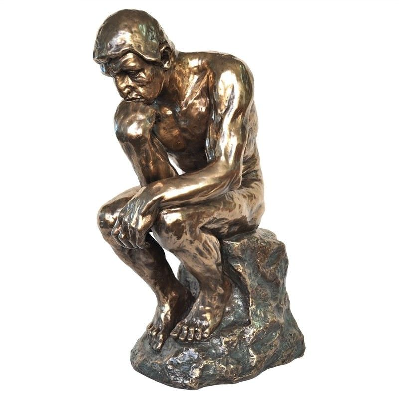 Cast Bronze Figurine of The Thinker, Large