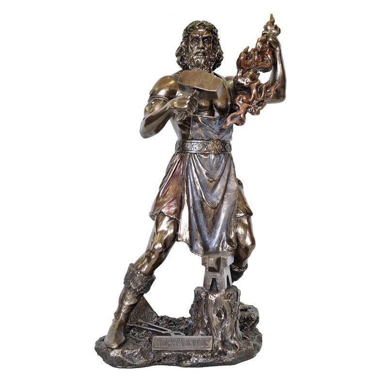 Cast Bronze Greek Mythology Figurine, Hephaestus